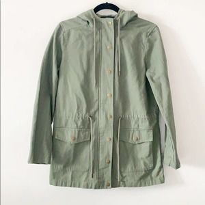 Forever 21 Utility Hooded Jacket Green Size Small